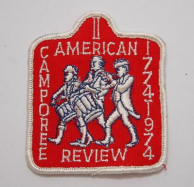 BSA / Boy Scouts of America - Vintage 1974 American Review Camporee Patch