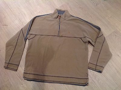 Mens FAT FACE Zip Front Top Size Large