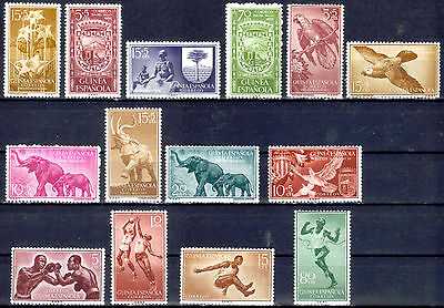 Spanish Guinea.  MNH and MH from 1956 1957 and 1958 .
