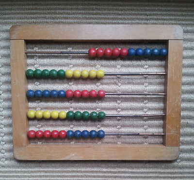 "Vintage CHILDS ABACUS  12 1/4"" x 9 3/4"""