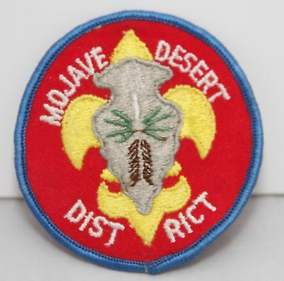 BSA / Boy Scouts of America - Vintage Mojave District Patch - Blue Border