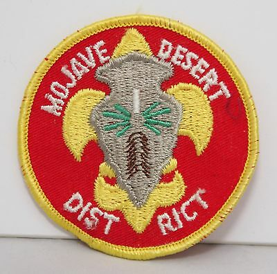 BSA / Boy Scouts of America - Vintage Mojave District Patch - Yellow Border