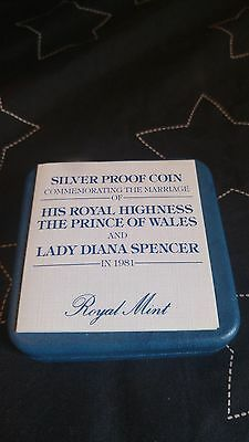 Silver Proof Coin Commemorating the Royal Wedding 1981