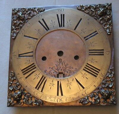 LONGCASE/GRANDFATHER CLOCK DIAL by E.BULLOCK of ELLESMERE