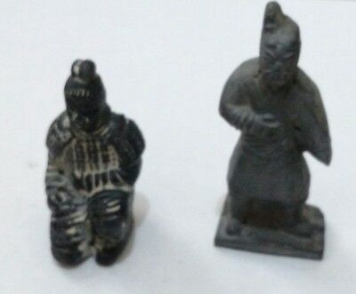 Chinese Terracotta, 2 Army Soldiers, nice Chinese Antique