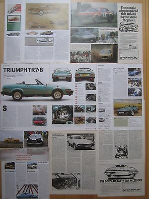 Triumph TR7 & TR8 Buying Guide, TR7 R.Test, Rallycar, V8, Special Tuning Adverts