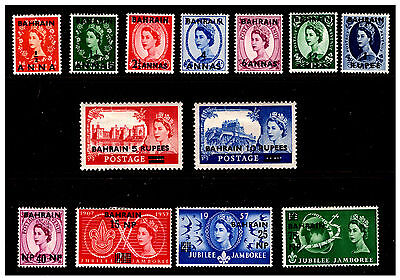 Bahrain Ovpt GB Stamps. 1952-57.  Mounted. {#421}
