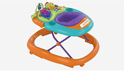 Chicco Walky Talky Baby Walker (Orange Wave) with Light and Music