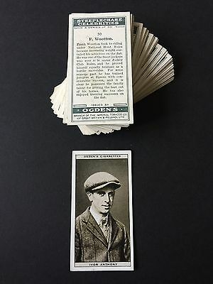 Cigarette Cards & Collectables **Ogden - Steeplechase Celebrities, Set 50**