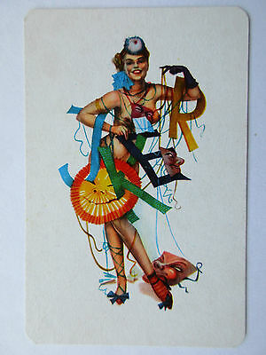 Erotic vintage Joker. Spielkarte. Germany. Playing card. Carte a jouer.