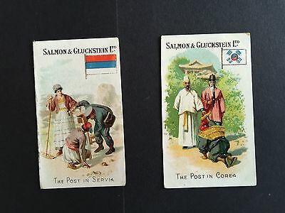 Cigarette Cards & Collectables **2 x Salmon & Gluckstein Methods Of Mail**