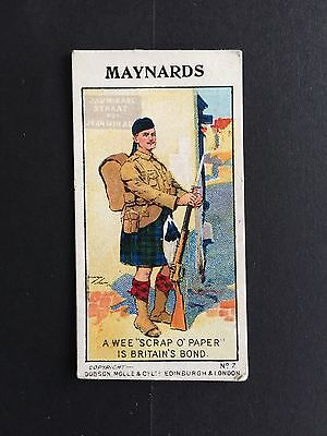 Cigarette Cards & Collectables **A Maynard's European War Card**