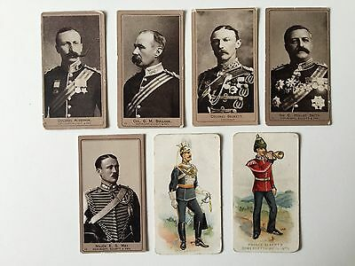 Cigarette Cards & Collectables **7 Military Pictures American Tobacco Company**