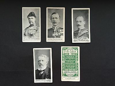 Cigarette Cards & Collectables **5 Adkins Soldiers Of The Queen**