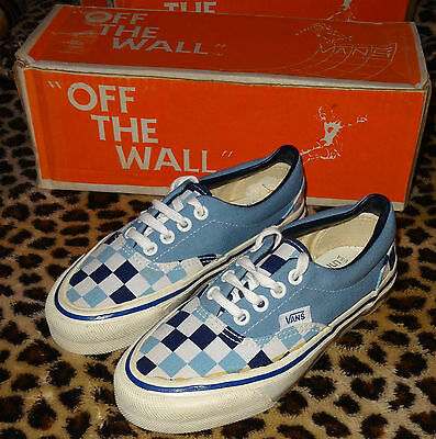 VANS #95 Low Top Skateboard Shoes - Vintage '70s Made in the USA Trainers 1 BWCQ