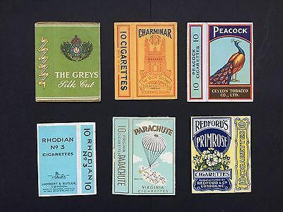 Cigarette Cards & Collectables **6 Early Cigarette Packets (10's Empty)**
