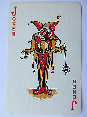 Great vintage Joker. USA. Spielkarte.  Playing card. Carte a jouer.(6)
