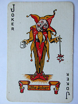 Great vintage Joker. USA. Spielkarte.  Playing card. Carte a jouer.(11)