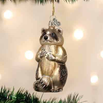 *Raccoon* [12146] Old World Christmas Glass Ornament - NEW