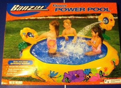 NEW - BANZAI FLOWER POWER Inflatable Pool - Sprinkler