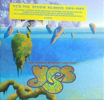 """Yes - """" The Studio Albums 1969 - 1987 """" 13 Cd + Poster Box Set 2013 Sealed"""