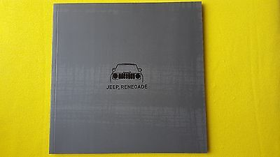 Jeep Renegade Longitude Trailhawk Sport Limited paper brochure August 2016 MINT