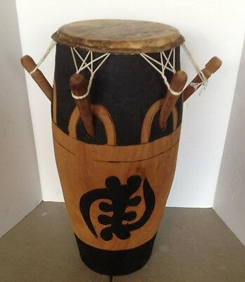 10 x 25 Hand Carved Tribal Drum