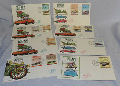 Leaders of the World Cars FDC Tuvalu 1985 (x8)