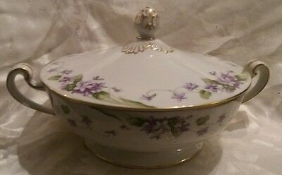 "noritake "" nancy "" serving dish & lid (5163) excellent condition"