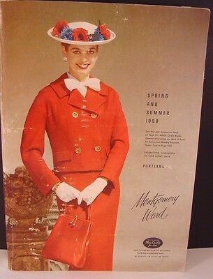 Vtg Montgomery Ward Catalog Spring and Summer 1958