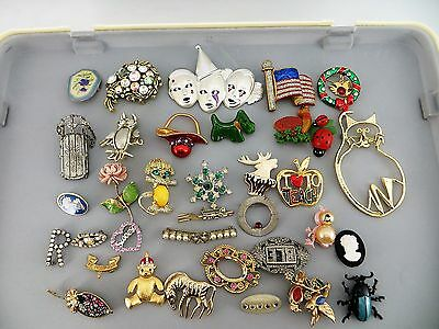 Lot 35 Assorted Pins Brooches Costume Jewelry Wholesale