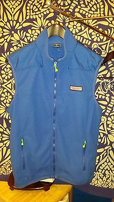 Vineyard Vines Men's Medium Windcrest Grid Fleece Vest