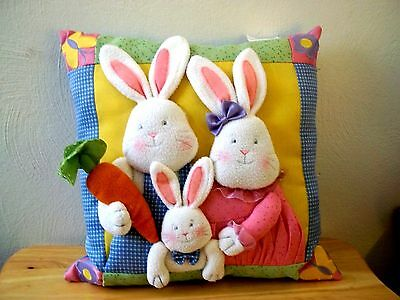 Easter Bunny Family Decorative Plush Pillow by Blossoms and Blooms, Kohl's