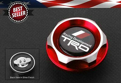 Tweist on TRD Brushed Red Engine Oil Filler Cap Cover For LEXUS SCION TOYOTA