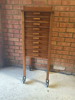 Vintage Oak Sewing Cabinet/Haberdashery Cabinet/Filing Cabinet circa 1940's