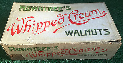 ANTIQUE RARE ROWNTREES WHIPPED CREAM WALNUTS CHOCOLATE BOX WALNUT WHIP 1920s