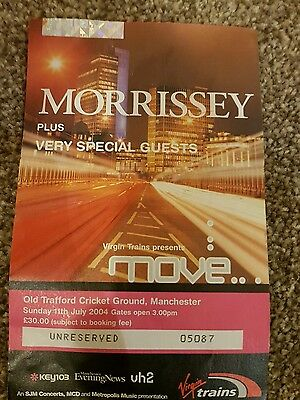 Morrissey concert ticket