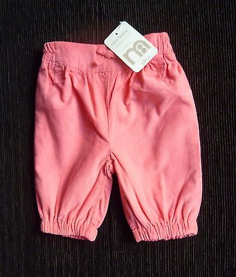 Baby clothes GIRL newborn 0-1m Mothercare cord cotton bright pink trousers BNWT