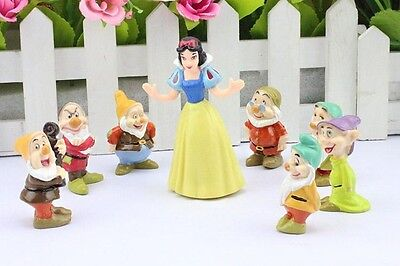 Snow White and the Seven Dwarfs Figures Cake Topper Toy Set (USA FAST SHIPPING)