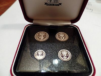 2001 ELIZABETH II MAUNDY SET IN ORIGINAL VIP ROYAL MINT CASE Proof