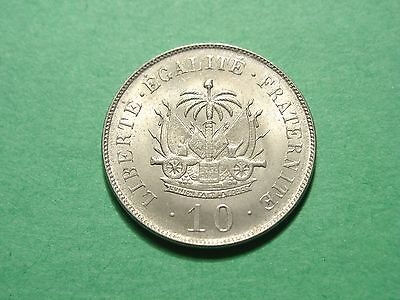 Haiti 10 Centimes 1906 Gorgeous Uncirculated Condition VERY RARE
