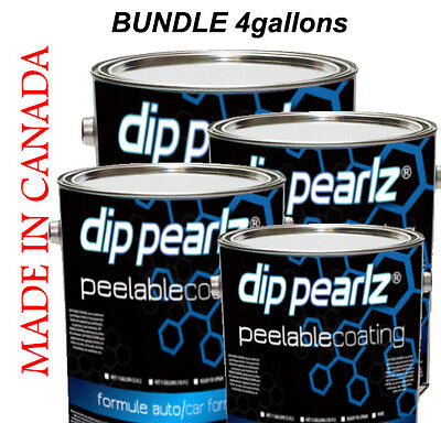 Dip Pearlz Peelable Paint Coating - 4 sprayable gallon bundle Plasti Dip