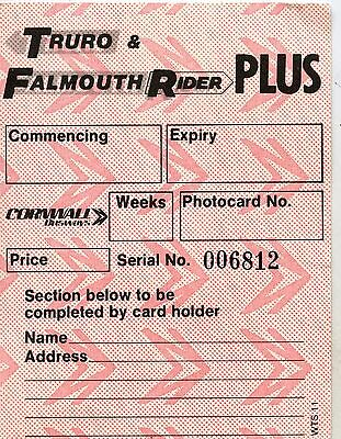 Bus Ticket;  Cornwall Busways