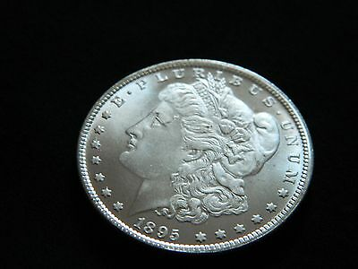 1895 Morgan Dollar Two Face Coin --INV81