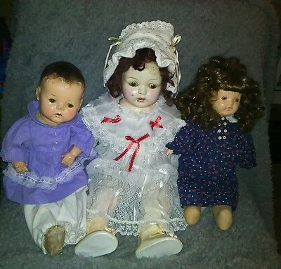 Lot Of VINTAGE ANTIQUE COMPOSITION DOLL TLC Condition Ideal Effanbee