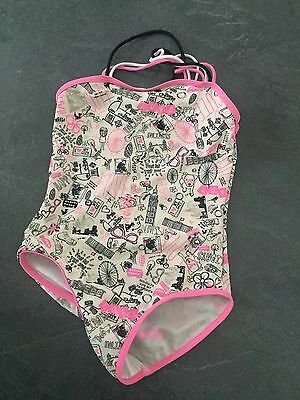 Girls Swimsuit Used Good Pink Graphite Age  9/10