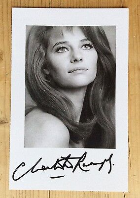 CHARLOTTE RAMPLING - Original Autograph Signed Photo - English Actress
