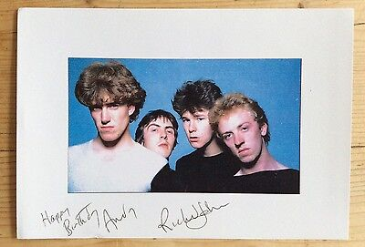 RICHARD JOBSON- original autograph signed photo - THE SKIDS punk