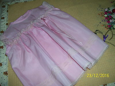 Reborn Doll Or Baby Vintage Pink Dress. No Sleeves. Size 0.