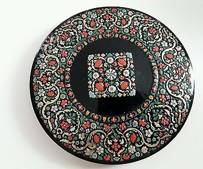 Rare Vintage 1956 Embossed Flower Design  Huntly / Palmers Biscuit Tin G/cond